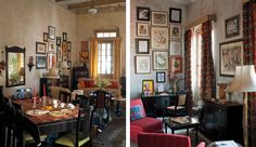 Love this entire apartment in Calcutta, India.  Great colors, textures, framed art, and bed.