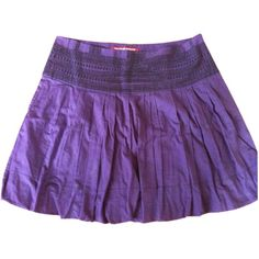 Pre-owned COMPTOIR DES COTONNIERS SHORT SKIRT ($55) ❤ liked on Polyvore featuring skirts, purple skirt and comptoir des cotonniers
