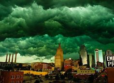 Image detail for -This photo of the sky over downtown Kansas City, MO