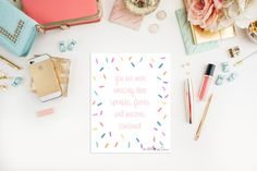 Sprinkles Typography Print - Cute Art - Unicorn and Fairies Print - Inspirational Quote - Typography Art - Whimsical Art - pinned by pin4etsy.com