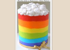 Rainbow Cake in Buttercream~ Video published on March 4, 2015