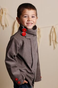 Fall Winter 2012Little Boy Urban Style Gray by babesnbeads on Etsy, $44.99