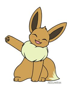 accellmation: have a smiley waving eevee! Pokemon Gif, Pokemon Eevee Evolutions, Pokemon Comics, Pokemon Fan Art, Cool Pokemon, Pokemon Regions, Cute Pokemon Pictures, Cute Pokemon Wallpaper, Art Manga