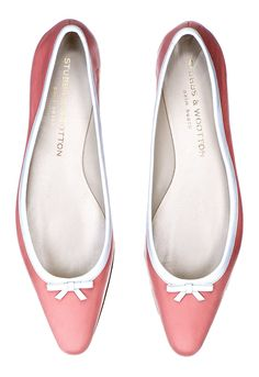 d30d4cdae36 Our Alicia Ballerina features a leather upper with white leather trim and  bow. - Meticulously