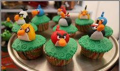 Dishgram.com  Cute Angry Bird Cup-Cakes