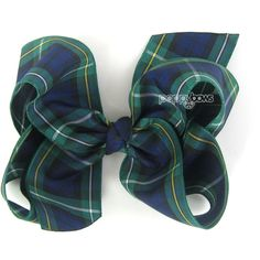 Plaid Hair Bow 4 Inch Hair Bows Navy Blue Dark Green Tartan Hair Bows... ($7.95) ❤ liked on Polyvore featuring accessories, hair accessories, barrettes & clips, grey, ribbon hair bows, barrette hair clips, bow hair accessories, bow hair clips and alligator hair clips