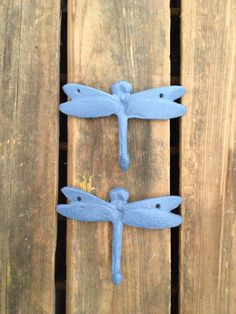 dragonfly wall hooks / decorative wall hooks / by aslapofwhimsy