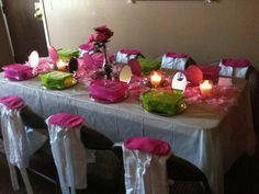 Spa Party - Table Setting
