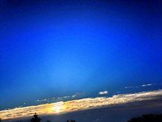 #sunrise #autumn #blue #sky #storm front leaving