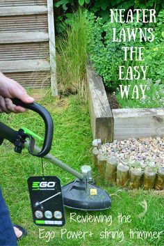 Using a strimmer is a great way to keep tricky garden areas tidy, here we take a look at the latest technology on the market with the Ego Power+ cordless string trimmer.