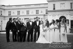 Bridal party formals Rosecliff  Mansion Newport RI