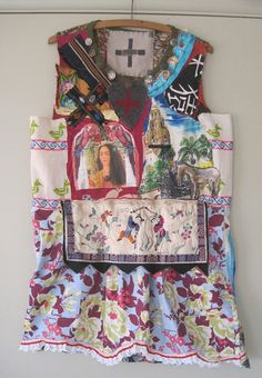 My Bonny FRIDA Wearable Art  Upcycled Unique  Clothing Vintage Fabric Folk Art