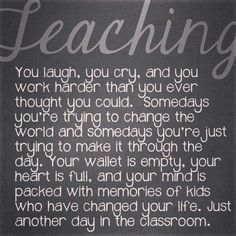 Teaching is.....
