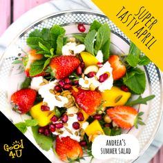 Our Food Photographer Andrea made this Summer Salad. Full of colour, taste and nutrition, it's simply delish! Summer Salads, Fruit Salad, Delish, Tasty, Nutrition, Colour, Healthy, Food, Color