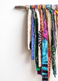 Wonderland Wall Hanging - fabric scraps
