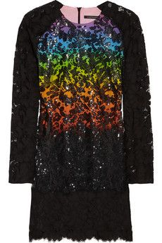 Christopher Kane Sequined Lace Minidress