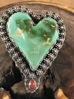STUNNING ~GEM STONE~ ROYSTON ~TURQUOISE ~CORAL~STERLING ~RING~CHATFIELDS