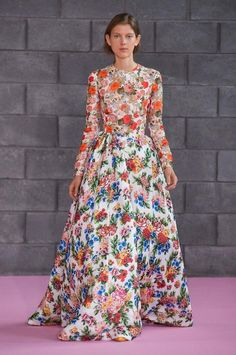 London fashion week spring 2016 highlights / Emilia Wickstead's dreamy spring floral gown.