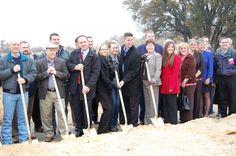 Ground Breaking Ceremony for Splash Kingdom Hudson Oaks on January 8, 2013