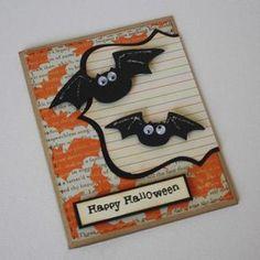 EtsyGreetings Handmade Cards: Halloween Greeting Card Bats