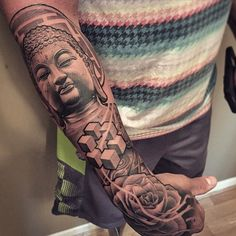 Buddha and rose by Lil B. by chronicink