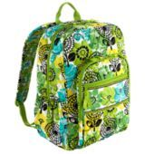 Vera Bradley campus back pack in limes up