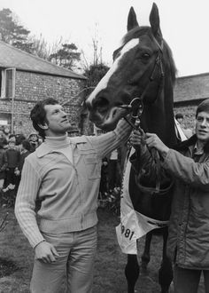 Bob Champion with 1981 Grand National winner Aldaniti. This horse will always be my favourite race horse!