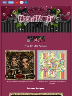 Ad: New Products,Sales,Featured Designer & Free Gift from Heartbeatz Creationz Store!