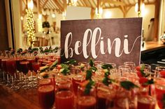 Wedding Drinks With A Difference Bellini Chwv Reception Ideas Diffe