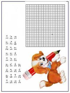 Yönerge1 Maths Puzzles, Preschool Worksheets, Preschool Learning, Printable Worksheets, Preschool Activities, Tangram, Graph Paper Art, Elderly Activities, Special Needs Students