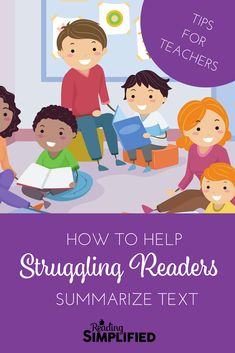 Ensure that every K-2 reader and every struggling reader can summarize the text they are reading. This is the foundational, most important question to ask. #strugglingreaders #teachertips Improve Reading Skills, Reading Strategies, Reading Comprehension, Comprehension Strategies, Reading Tutoring, Reading Intervention, Teaching Reading, Summarizing Activities, Teacher Resources