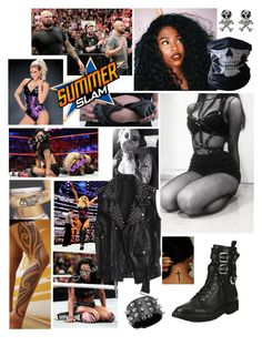"""🌀 Anasttatia 🌀 Summerslam ~ Match against Lana and Losing because of Luke Gallows and Karl Anderson's distraction"" by queenofwrestling ❤ liked on Polyvore featuring Karl Lagerfeld, BUFF and Giuseppe Zanotti"