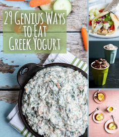 29 Genius Ways To Eat Greek Yogurt I'm going to try the avocados fries with olive oil and rosemary in the Greek yogurt. Hope the substitution works!
