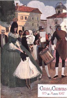 Festejo del 25 de Mayo / Portada de la revista 'Caras y Caretas' (1917), Argentina