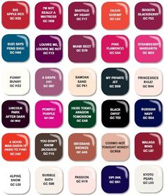 OPI Gel Colors 2013
