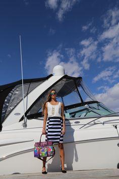 Fricaine Dutchess Shouder Floral Print Handbag #contest #win #handbag #bag #floral #shoulderbag #accessories #fashion #womensfashion #womensfashionblog #ootd #nautical #mixingprints #summer #style #shopping