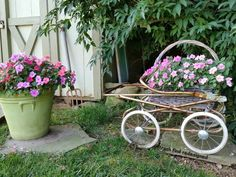 MY FINDS for FLOWERS - Using Repurposed Rustic Reused Reclaimed Stuff