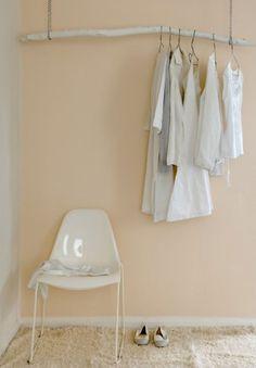 soft peach and white interior. modern romance.