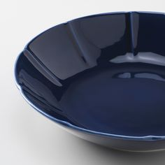 STRIMMIG Deep plate/bowl, stoneware blue - IKEA Ikea, Earthenware, Stoneware, Table Color, Paper Dinner Napkins, Color Glaze, Motif Floral, Decoration Table, Teller