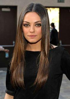 Mila Kunis. Brunette.  Subtle ombre