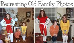 Have you seen the trend where people are recreating old family photos? Come see mine!!!