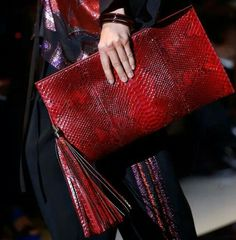 Clutch.Red.Tassels.Print