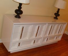 Hollywood Regency Credenza. Painted.