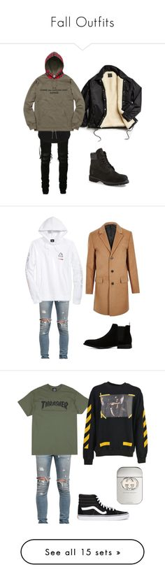 Fall Outfits by sullivansstyle on Polyvore featuring polyvore, AMIRI, Jack & Jones, Urban Outfitters, Comme des Garçons, Timberland, men's fashion, menswear, clothing, RtA, LRG, River Island, ALDO, Off-White, Vans, Gucci, Topman, adidas Originals, AllSaints, Dsquared2, Common Projects, Emporio Armani, PS Paul Smith, Justin Bieber, Reebok, Stussy, A.P.C., L.L.Bean, David Yurman, Calvin Klein, adidas, Acne Studios, YEEZY Season 2, MANGO MAN, NIKE, Polo Ralph Lauren and Alpha Industries