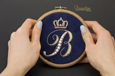 DIY embroidery kit, hand embroidery kit video tutorial, embroidery hoop gift, calligraphy letter #diy #diyembroidery #kit #embroiderykit #hoopkit Diy Embroidery Kit, Embroidery Letters, Embroidery Jewelry, Modern Embroidery, Embroidery For Beginners, Embroidery Fonts, Beaded Embroidery, Jewelry Kits, Letter Patterns