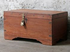This is superb high-quality antique storage chest with handmade metalwork detailing. #vintage #furniture #sale #vintagefurniture Furniture Sale, Vintage Furniture, Furniture Design, Wooden Chest, Hope Chest, Metal Working, Diy, Storage Chest, Home Furnishings