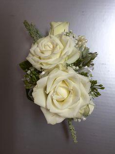 White Rose Corsage by Alta Fleura
