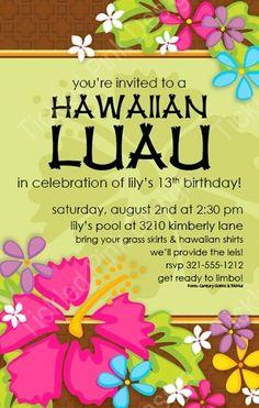 Tropical Luau Invitation # papersopretty .net # tickledpinkdsn