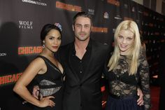 #ChicagoFire Premiere Party - Monica Raymund, Taylor Kinney, and Lauren German.
