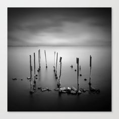 Ten candles, poles in Mesologi lagoon Greece, black and white square Canvas Print by kostaspavlis Fine Art Prints, Canvas Prints, Square Canvas, Greece, Candles, Fish, Black And White, Artist, Greece Country